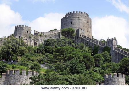 Rumelihisarı Fortress, Rumelian Castle, European Castles, Sariyer district, Bosphorus, Bogazici, European bank of Istanbul - Stock Photo