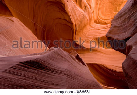 Lower Antelope Canyon, Arizona, USA - Stock Photo