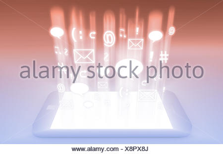 Emerging Mobile Market Media and Technologies Art - Stock Photo