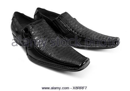 pair of dark shoes - Stock Photo
