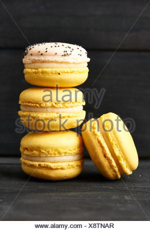 French delicious dessert macaroons - Stock Photo