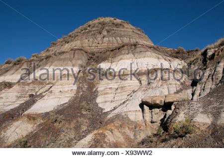 Midland Provincial Park, Alberta, Canada featuring Bentonite, an absorbent aluminium phyllosilicate. - Stock Photo