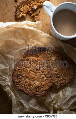 Cookies and tea - Stock Photo