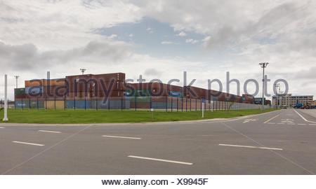 Modern expanded port in Bata EG - Stock Photo