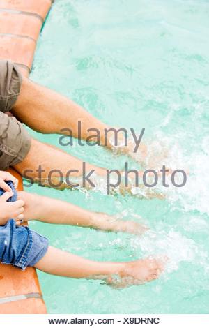 Boy S Feet By A Swimming Pool Stock Photo 22991748 Alamy