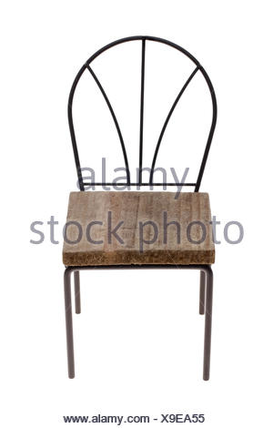 small toy chair isolated on white background - Stock Photo