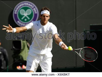 Juan Martin Del Potro, ARG, Wimbledon Championships 2012 AELTC, ITF Grand Slam Tennis Tournament, London, England - Stock Photo