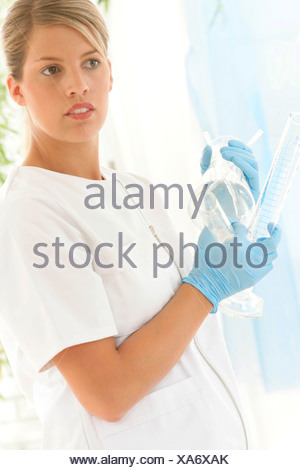 LABORATORY WORKER - Stock Photo