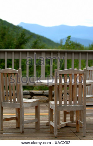 Chairs on a deck - Stock Photo