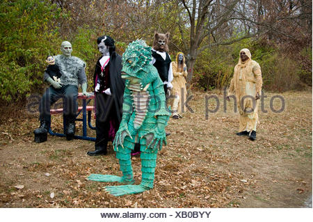 The set of a comedy-horror film. - Stock Photo