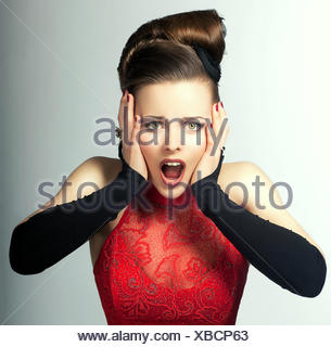 woman, gesture, humans, human beings, people, folk, persons, human, human - Stock Photo