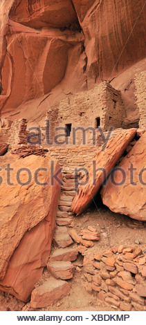 Cliff dwelling, Anasazi, Ruin, Monticello, River House, San Juan River, Bluff, Colorado Plateau, Utah, USA, United States, Ameri - Stock Photo