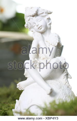 Garden figure, figure, garden, elf, - Stock Photo