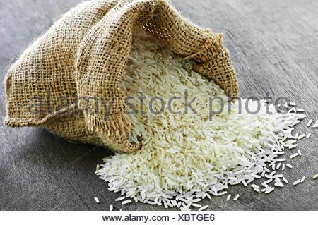 grain long sack - Stock Photo