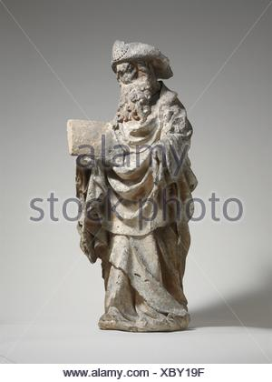 Saint James the Greater. Date: ca. 1450-75; Geography: Made in Poligny, Burgundy, France; Culture: French; Medium: Limestone with traces of paint; - Stock Photo