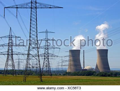 nuclear power station - Stock Photo