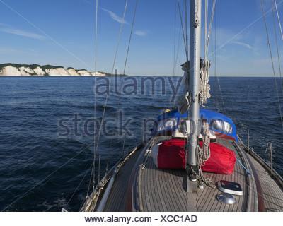 sailing near møns klint, denmark - Stock Photo
