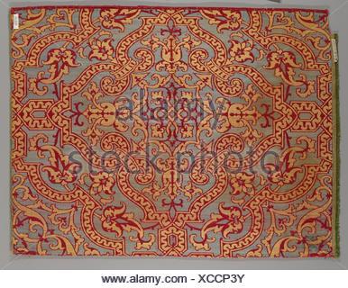 Piece. Date: 17th century; Culture: Spanish; Medium: Silk; Dimensions: 17 1/2 x 23 inches (44.5 x 58.4 cm); Classification: Textiles-Woven; Credit - Stock Photo