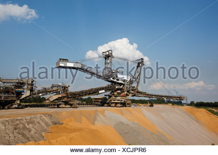 Germany, North Rhine-Westphalia, Glesch, Brown coal surface mining - Stock Photo