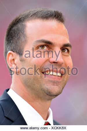 Markus Babbel, manager and coach of VfB Stuttgart, looking friendly - Stock Photo