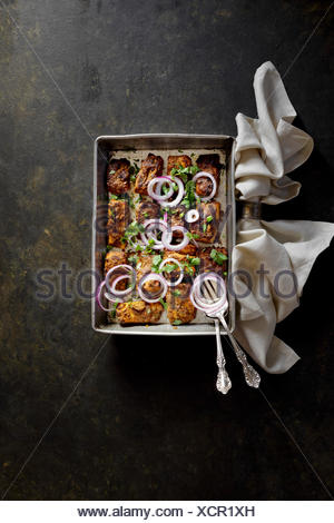 Salmon Kebab - Stock Photo