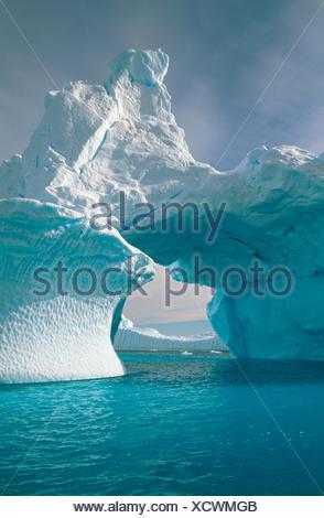 Iceberg in Andvord Bay. Antartica - Stock Photo