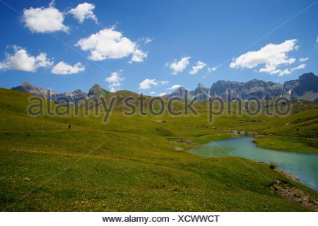 Ezcarra Enbalse of Valle de Tena Pyrenees Huesca Pyrenees Spain - Stock Photo