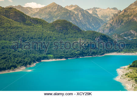 Bulbal Reservoir, also called Swamp Bubal is a reservoir located in the Spanish Pyrenees Valle de Tena (Huesca). - Stock Photo