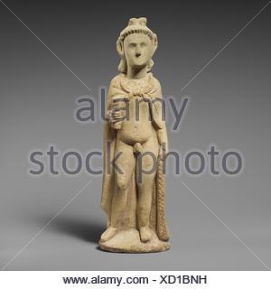 Limestone statuette of Pan. Period: Hellenistic; Date: 3rd-1st century B.C; Culture: Cypriot; Medium: Limestone; Dimensions: 12 x 2 x 3 1/2 in. (30.5 - Stock Photo