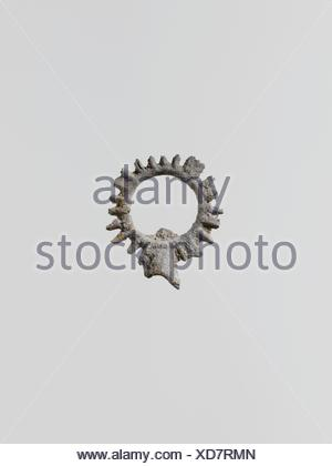 Wreaths, 11. Culture: Greek, Laconian; Medium: Lead; Dimensions: 15/16 x 3/4 in. (2.3 x 2 cm); Classification: Miscellaneous-Lead; Credit Line: Gift - Stock Photo