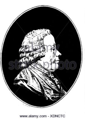 Gluck, Christoph Willibald, 2.7.1714 - 15.11.1787, German musician (composer), portrait, drawing, Additional-Rights-Clearances-NA - Stock Photo
