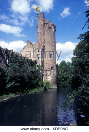 Caister Castle, Norfolk, 15th century English medieval castles, England UK, The Solar Tower - Stock Photo
