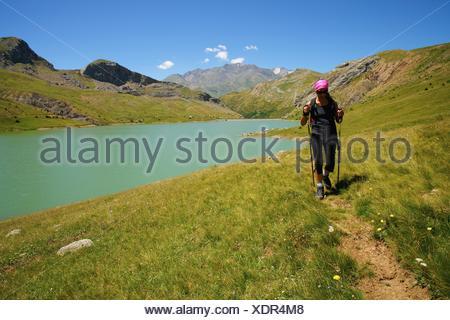 Enbalse de Ezcarra  Valle de Tena Pirineos Huesca Cordillera pirenaica España - Stock Photo