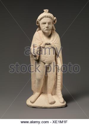 Limestone statuette of Pan or Opaon Melanthios. Period: Hellenistic; Date: 3rd century B.C; Culture: Cypriot; Medium: Limestone; Dimensions: Overall: - Stock Photo