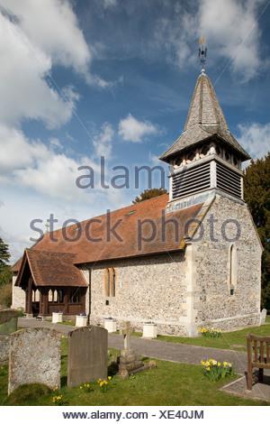 St John The Baptist church Moulsford Oxfordshire Uk - Stock Photo