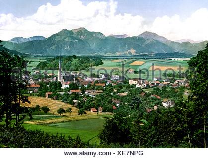 Prien auf Chiemsee Oberbayern - Stock Photo