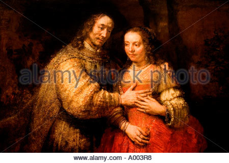 Rembrandt Harmenszoon van Rijn Dutch 1606–1669 Netherlands Isaac en Rebecca The Jewisch Bride - Stock Photo