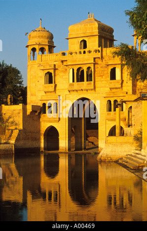 Teelon Ki Pol, Gadi Sagar Reservoir, Jaiselmer, Rajasthan, India - Stock Photo