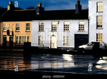 Banbridge County Down Northern Ireland Terraced Houses - Stock Photo