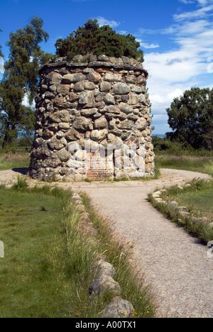 dh Battle field CULLODEN MOOR INVERNESSSHIRE 1746 Memorial stone cairn battlefield site Scotland 1745 jacobite rebellion scottish jacobites monument
