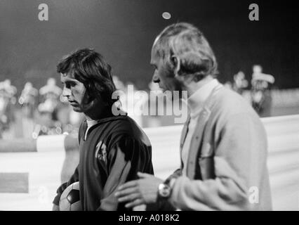 football, Bundesliga, 1972/1973, Wuppertaler SV versus Bayern Munich 1:1, Stadium am Zoo, head coach Udo Lattek - Stock Photo