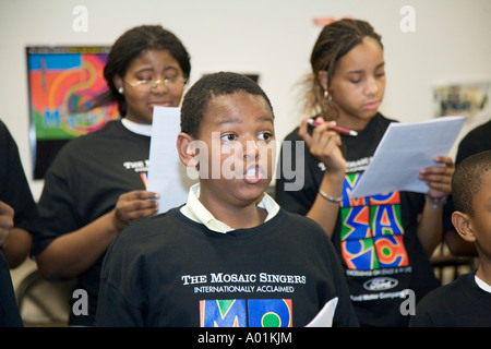 Mosaic Singers - Stock Photo