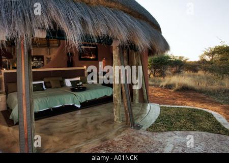 The Bush Suite in Okonjima Private Game Reserve in Namibia - Stock Photo