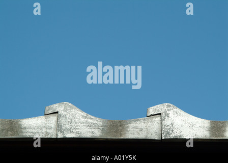 Detail of roof tiles. Old samurai's houses at Nagamachi district. Kanazawa. Ishikawa Prefecture. Japan - Stock Photo