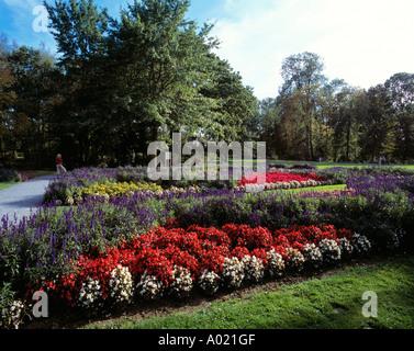 Schlosspark Wickrath in Moenchengladbach, Niederrhein, Nordrhein-Westfalen - Stock Photo