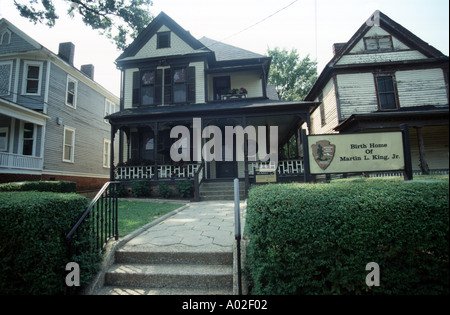 Birth Home of Dr. Martin Luther King Junior in Atlanta - Stock Photo