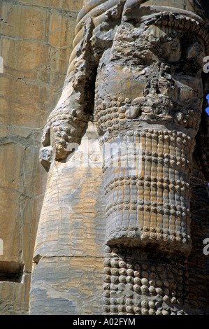 Ruins of the ancient city of Persepolis which was once the capital of the Persian Empire - Stock Photo