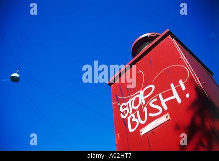 STOP BUSH! - Stock Photo