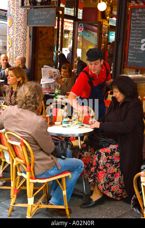 Le Bar du Marché  in rue de Seine in district of St Germain des Pres in Paris the capital of France EU - Stock Photo