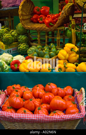 Ternes Covered Market on rue Lebon in the 17th arrodissement of Paris the capital of France EU - Stock Photo